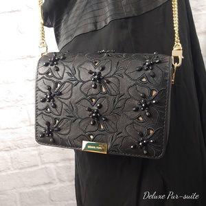 Michael Kors Jade Gusset Clutch Bag Gold leather